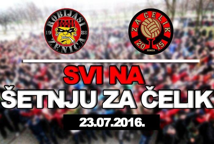 UG Robijaši i NGG Za Čelik u subotu organizuju šetnju za NK Čelik