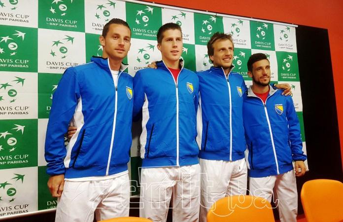 VIDEO+FOTO: Naši teniseri optimistični uoči susreta sa Poljacima u Davis Cupu