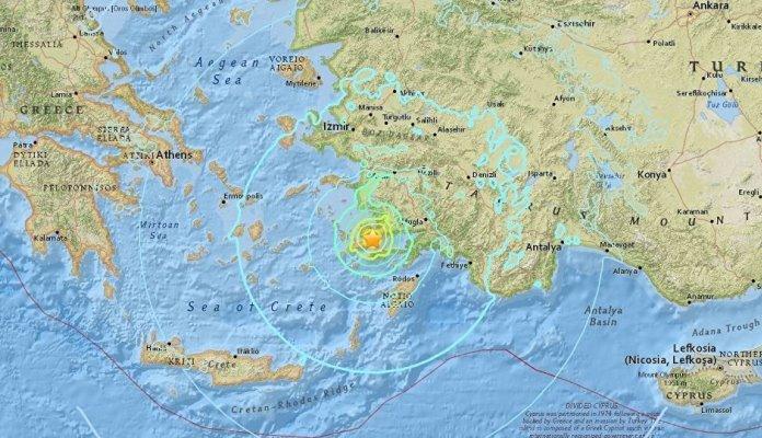 Snažan zemljotres pogodio Grčku i Tursku, poginule najmanje dvije osobe