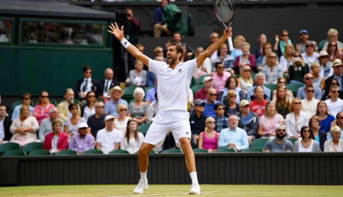 Marin Čilić i Roger Federer u finalu Wimbledona