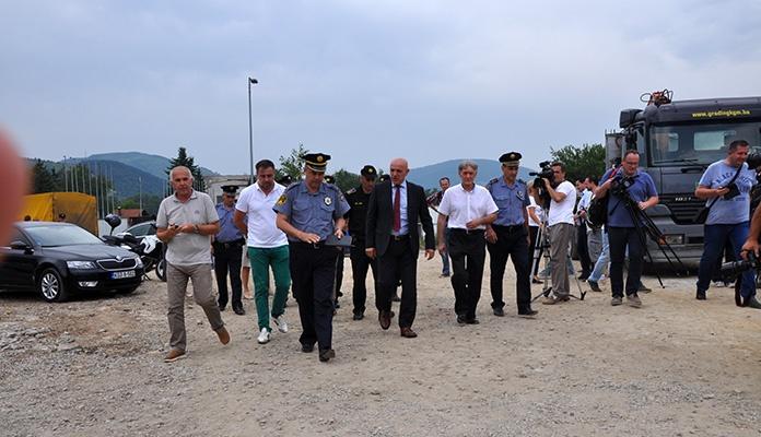 Galijašević sa ministrom Arsenićem i komesarom Šutom izvršio obilazak gradilišta nove zgrade za obuku pripadnika MUP-a ZDK (FOTO)