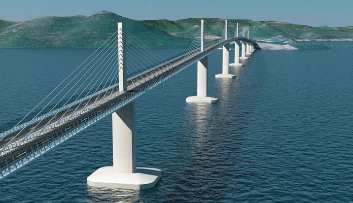 Izgrađena četvrtina Pelješkog mosta