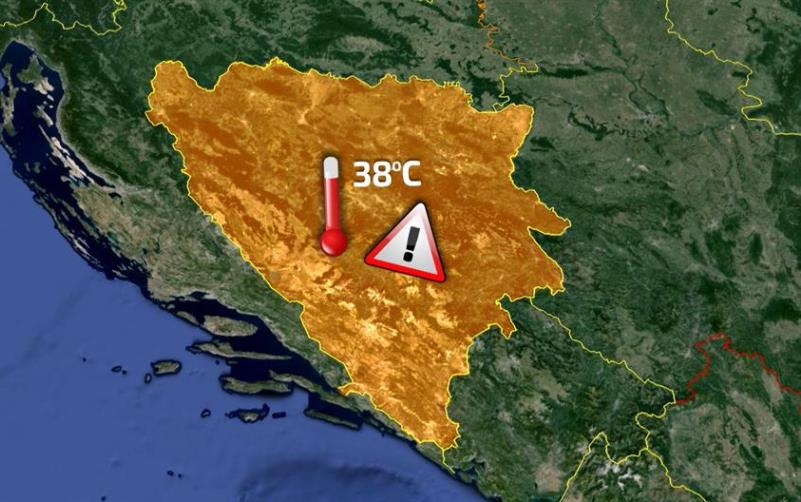 Narandžasto upozorenje zbog visokih temperatura u BiH