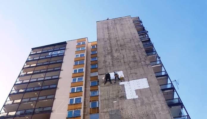 Pogledajte kako je izgledalo popravljanje fasade na soliteru na Mokušnicama (FOTO)