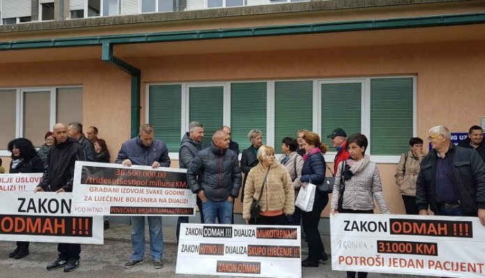 U srijedu protesti dijaliznih pacijenata Federacije BiH