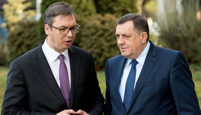 Sastanak podrške Milorada Dodika i Aleksandra Vučića