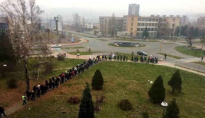 Protestna šetnja radnika Željezare Zenica