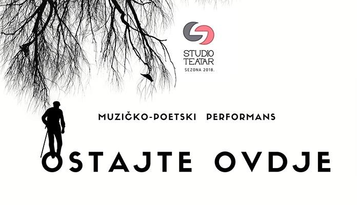 """U Zenici muzičko-poetski performans """"Ostajte ovdje"""""""