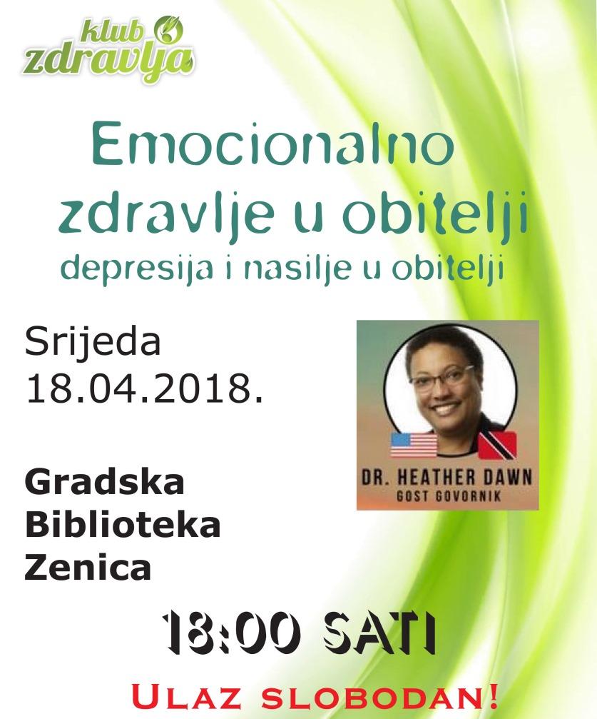 U srijedu u Zenici predavanje na temu Emocionalno zdravlje u obitelji