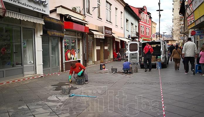 Sanacija glavnog šetališta u Zenici (FOTO)