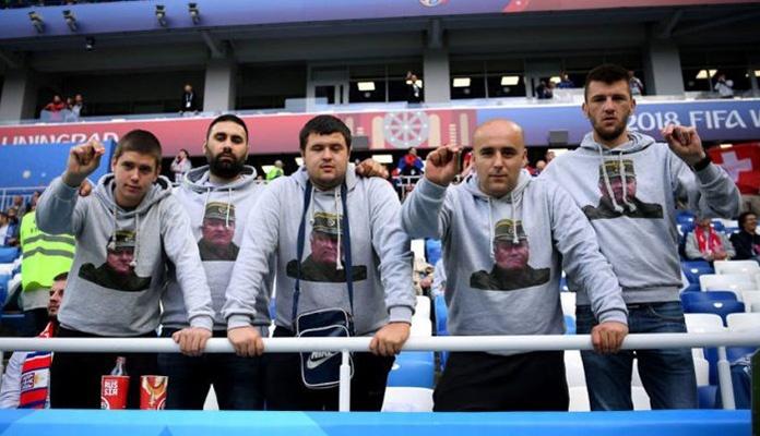Navijači Srbije veličaju ratnog zločinca Mladića