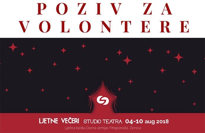 """Postani dio festivala """"Ljetne večeri Studio Teatra"""""""