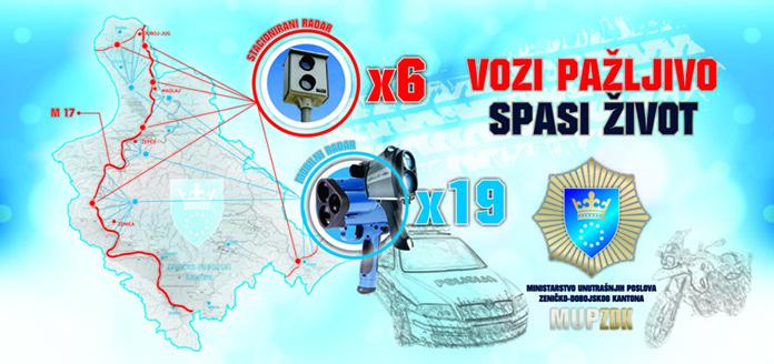 Radari na na dvadeset pet lokacija na području ZDK