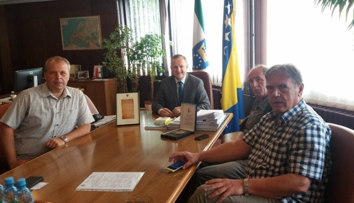 Predsjedavajući Skupštine ZDK Jasmin Duvnjak dao podršku za otvaranje Parka Kulina bana u Zenici