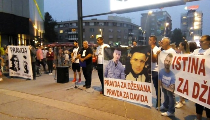 """U Zenici održan protestni skup i mirna šetnja """"Pravda za Davida i Dženana"""""""