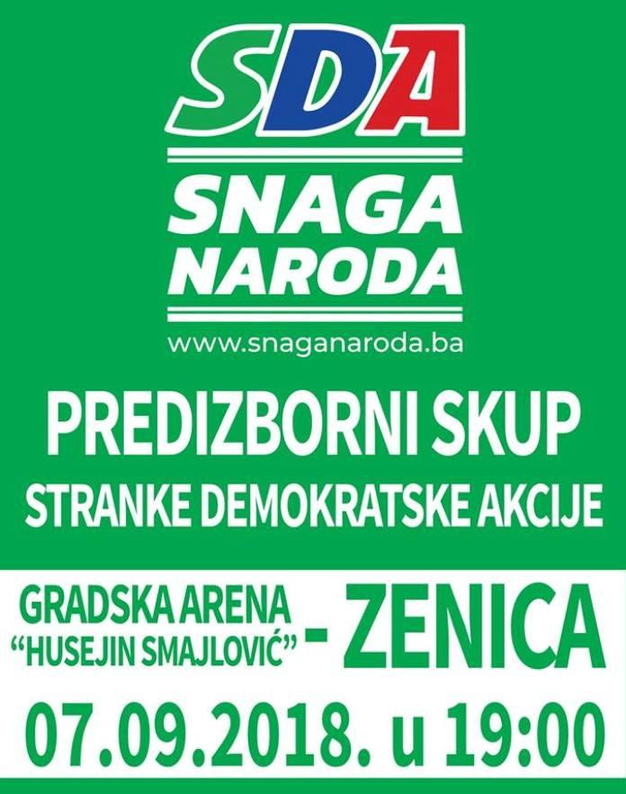 SDA predizbornim skupom u zeničkoj areni Husejin Smajlović započinje kampanju