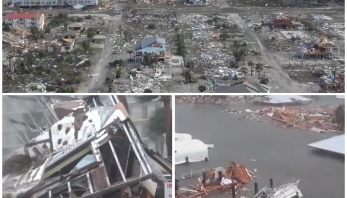 Snimci dronom pokazuju prave razmjere katastrofe koju je izazvao uragan Majkl (VIDEO)