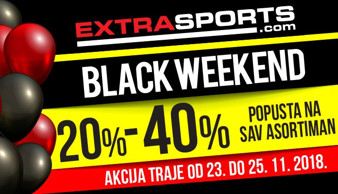 Black Weekend u Extra Sports radnjama