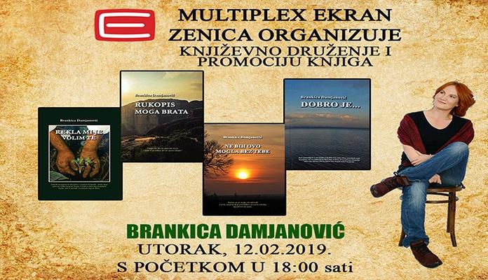 U utorak književno druženje sa Brankicom Damjanović