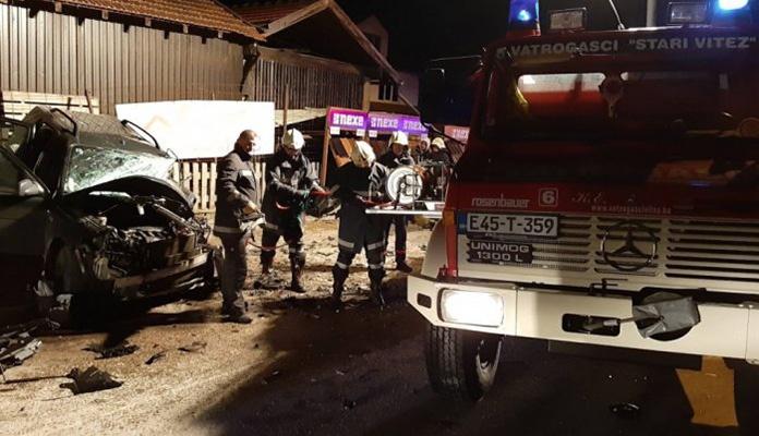 Dvije osobe povrijeđene u sudaru kod Busovače
