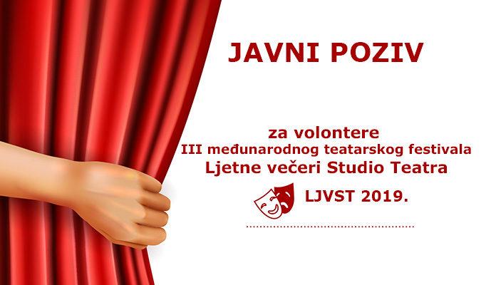 Poziv za volontere: Postani dio kreativnog festivala Ljetne večeri Studio Teatra