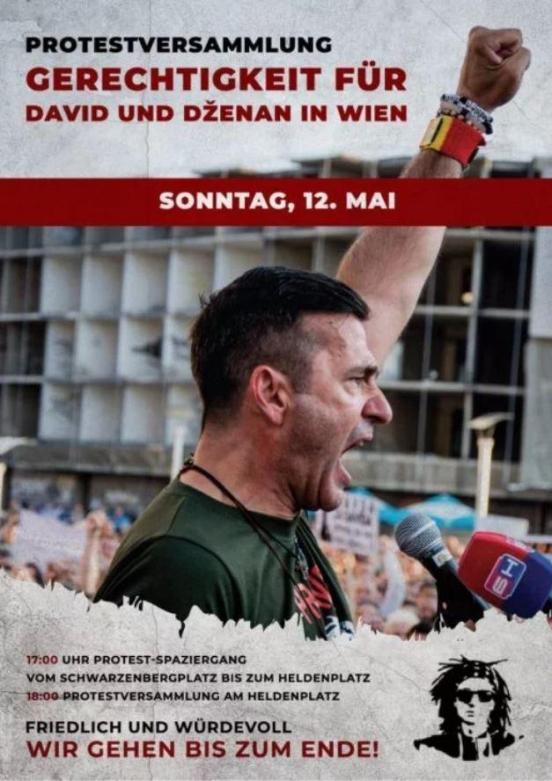 """Danas u Beču veliki protest """"Pravda za Davida i Dženana"""""""