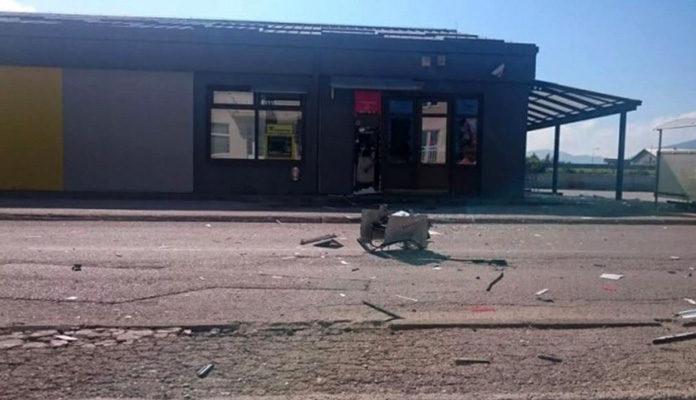Razbojnici u Mostaru raznijeli bankomat, ali nisu odnijeli novac