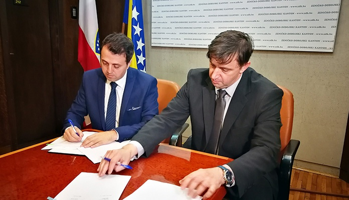 Potpisan ugovor o projektu Plava voda između Vlade ZDK i JP Plava voda d.o.o.