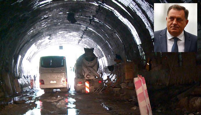 Milorad Dodik prolazeći kroz tunel Vranduk počastio radnike sa 200 KM