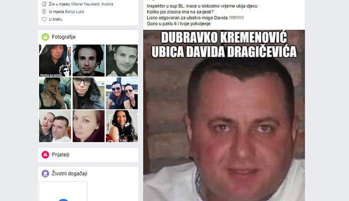 Suzana Radanović optužila banjalučkog inspektora za smrt Davida Dragičevića