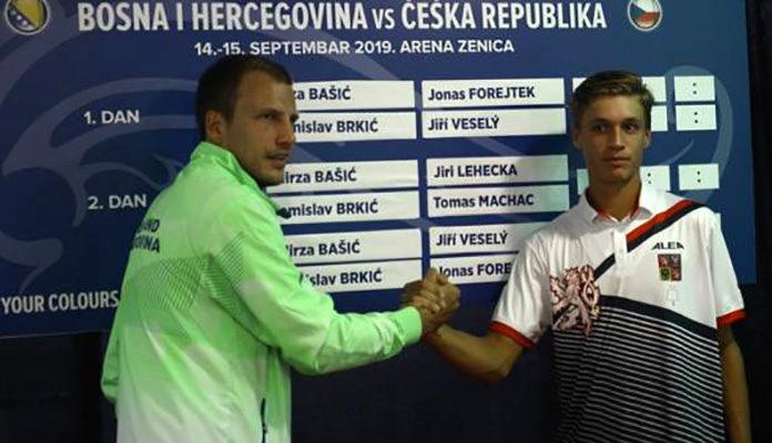 Bašić i Forejtek otvaraju duel Davis Cup reprezentacija BiH i Češke