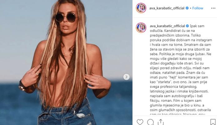 Ava Karabatić želi postati predsjednica Hrvatske: U toplesu najavila kandidaturu