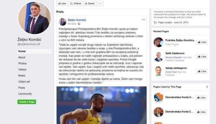 Komšić uputio Tuki iskrene čestitke u svoje, u ime Predsjedništva BiH i svih građana BiH
