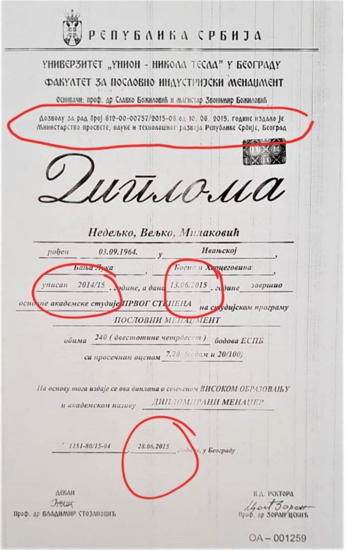 Nedeljko Milakovic DIPLOMA 696x1106