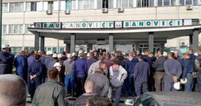 Rudari u Banovićima stupili u štrajk upozorenja, rudnik bez Nadzornog odbora