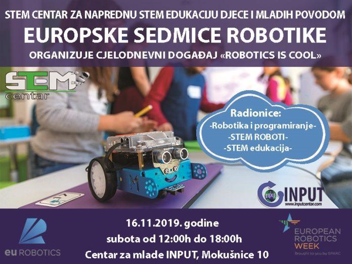 Robotika je cool - Europska sedmica robotike u INPUT Centru
