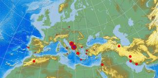 Karta Zemljotresa
