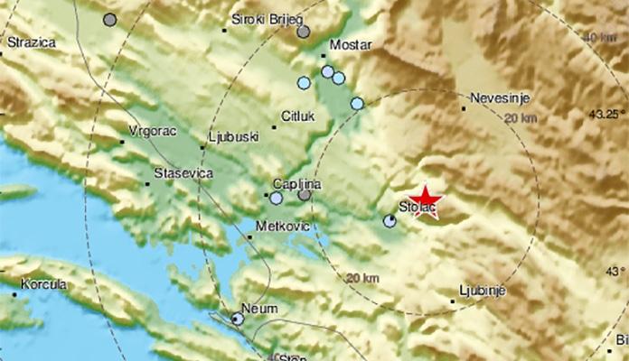 Zemljotres Stolac