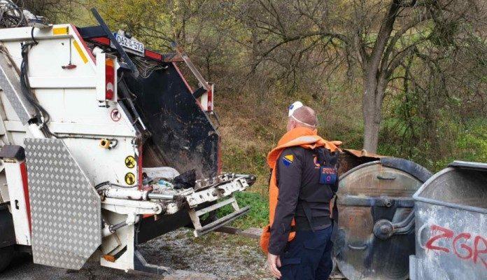 Komunalci pronašli minu u kontejneru, spriječena tragedija