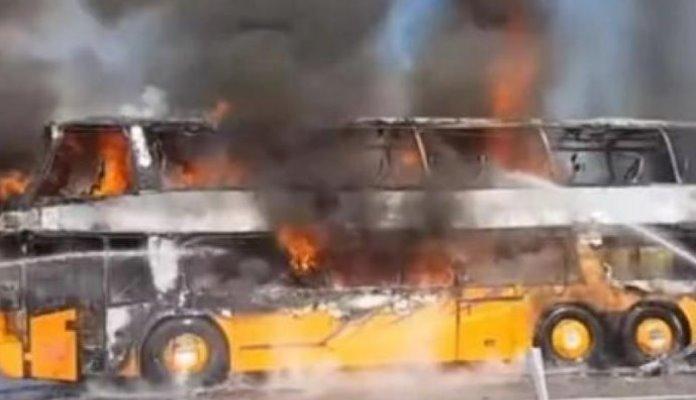 Autobus iz Mostara krenuo za Njemačku pa se zapalio prije granice