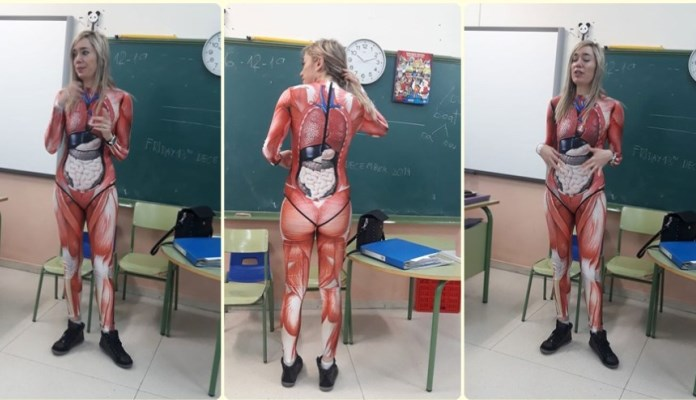 Učiteljica postala hit zbog outfita u kojem je djecu učila anatomiji