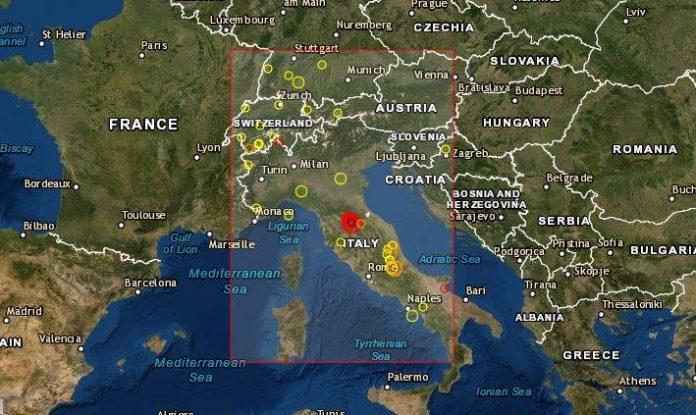 Jak zemljotres pogodio Italiju