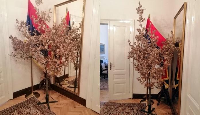 Predsjedništvo Bosne i Hercegovine: Tradicionalno unesen badnjak u kabinet srpskog člana