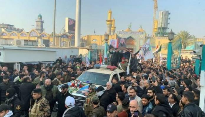 Hiljade ljudi na sahrani generala Qassema Soleimanija (VIDEO)