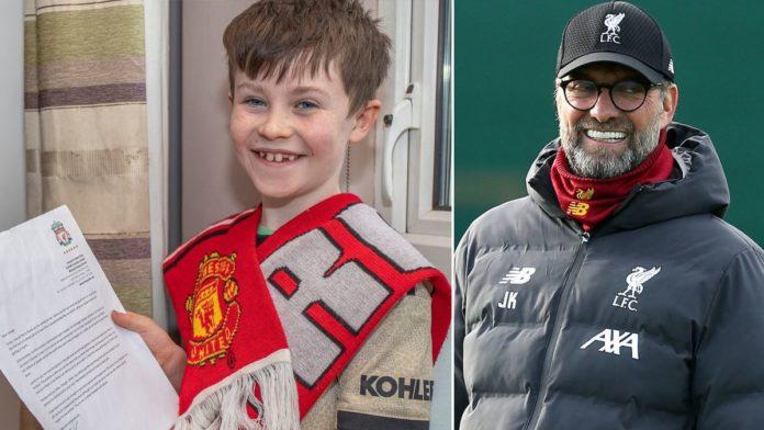 Dječak navijač Uniteda pisao Kloppu da prestane pobjeđivati, dobio je odgovor