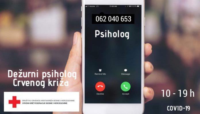 Crveni križ FBiH otvorio telefonsku liniju za pružanje psihosocijalne podrške