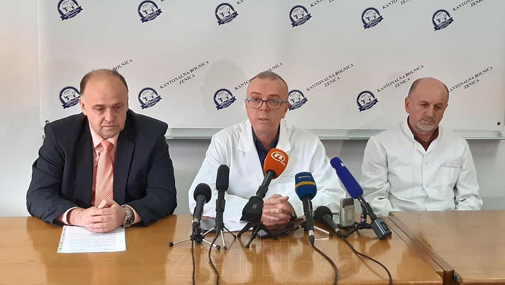 Vanredna press konferencija u Kantonalnoj bolnici Zenica zbog korona virusa (VIDEO)