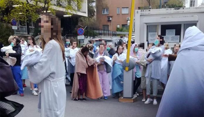 Mame i bebe iz bolnice u Zagrebu evakuirane na ulicu, porođaji će se obavljati u osobnim automobilima