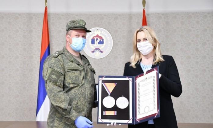 Željka Cvijanović odlikovala pripadnike ruske vojske