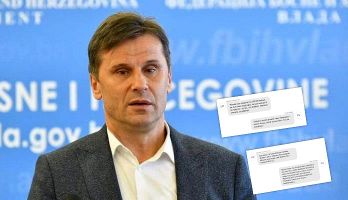 Procurile poruke Fadila Novalića zbog kojih je uhapšen (FOTO)